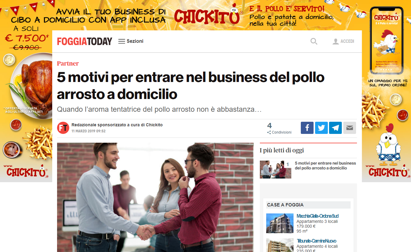 pollo arrosto chickito franchising